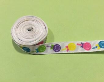 "3/8"" Colorful Lollipop Ribbon"