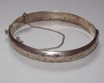 Etched Sterling Bracelet Birks