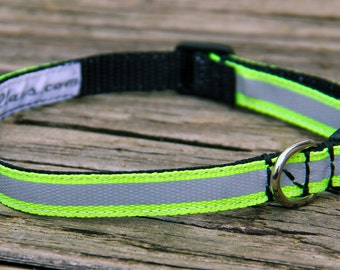 Safety Cat Collars - Neon & Reflective/safety buckles