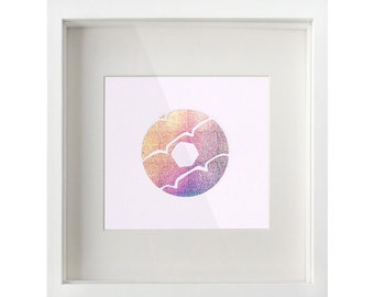 Holographic Party Ring Biscuit Foil Print / Metallic Print - Cookie Print - Embossed Print