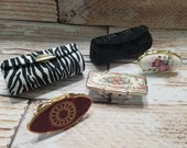 Vintage Estate Collection of Lipstick Cases or Case (2) and Holders with Mirror (3) Holders