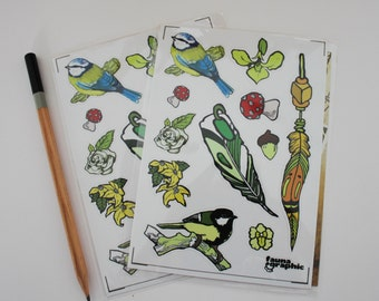 Faunagraphic Mixed Sticker Sheet a6