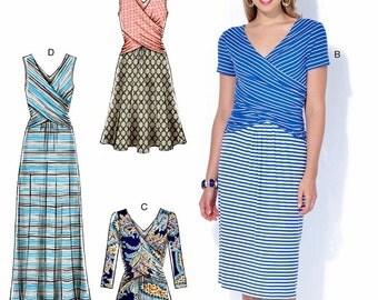 Stretch Knit Dress Pattern, Pullover Dress Pattern, McCall's Sewing Pattern 7319