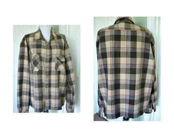 Vintage sears nylon winter shirt - grunge - unisex xtra large