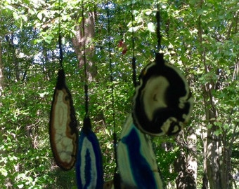Geode Wind Chime on Driftwood.   #75