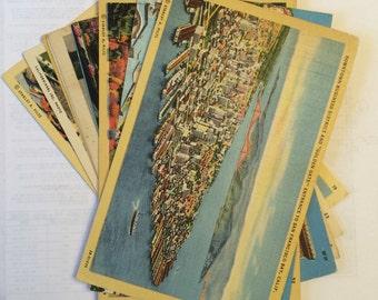 Set of 11 Vintage Linen San Francisco Post Cards