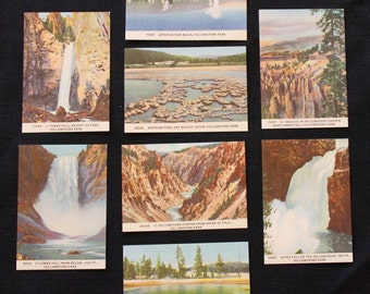 Vintage Mini Yellowstone Postcards