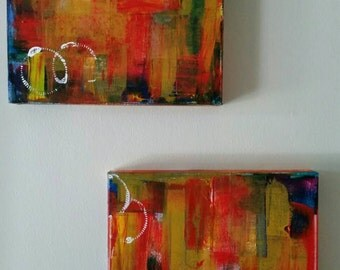 Abstract acrylic Art 12 x 12 x 1 3/8