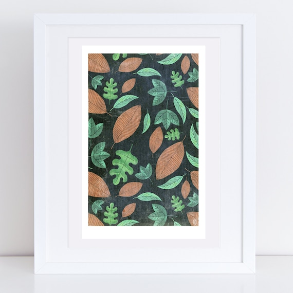 Heligan Leaves Print