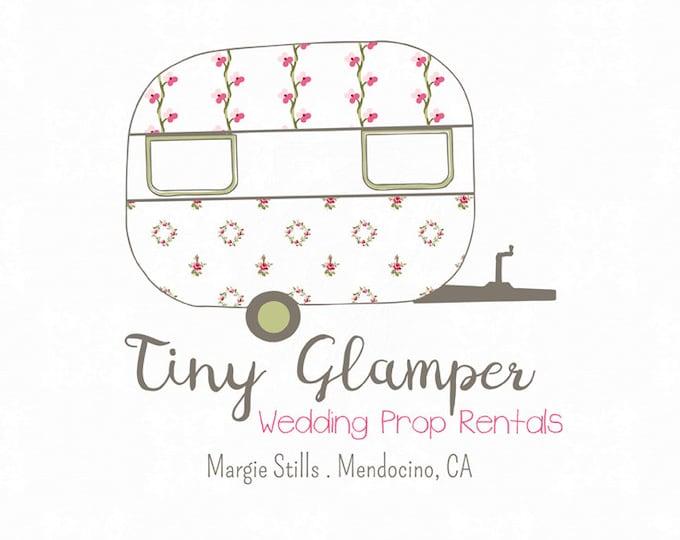 Premade Vintage Camper Logo Tiny Glamper