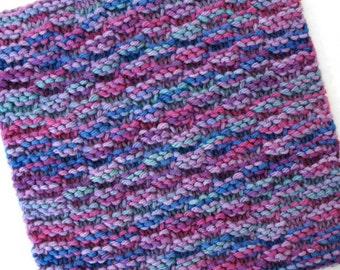 Cotton Dishcloth, Knit Dishcloth, Cotton Washcloth, Purple Jewel Tone, Cotton Dish Rag