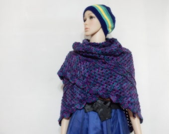 Crochet shawl in mix color
