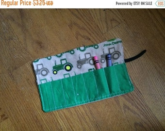 Sale Christmas in July Crayon Roll up tractor