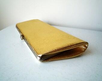 Vintage Gold Lame Clutch Bag, SALE