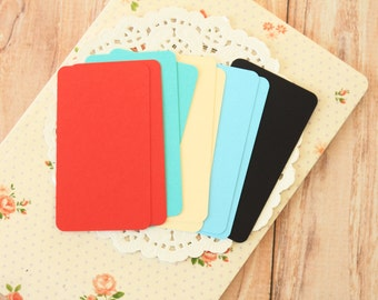 Seaside Colours 50pc handmade blank Business Cards