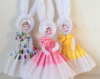 Victorian Chenille Easter Bunny Girl PDF Instructions