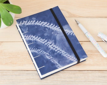 Shibori Journal Notebook. Blue Travel Journal Notebook. Blank Journal. Boho Journal. Coptic Binding Journal. Travel Gift. Handbound Journal