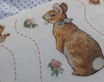 10 Sheets Beatrix Potter Bunnies Border Big Stickers 2001 Colorbok, Peter Rabbit