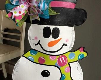 Large Snowman Door Hanger