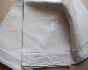 Excellent XL vintage French pure linen sheet, unused, comfortable bedding fabric or great curtain