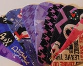 Set of Six Reusable Cotton Thong  Panty Liner, Choose Your Fabric, BEST PRICE! Lightweight, 4 or 6 layers, all 100% cotton flannel.