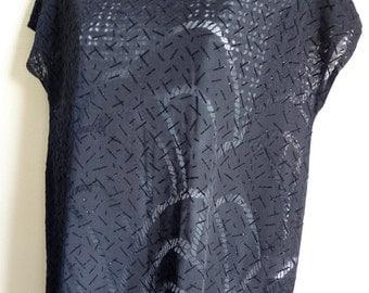 RESERVED  Marcel Marongiu Paris long black semi transparent tunic dress