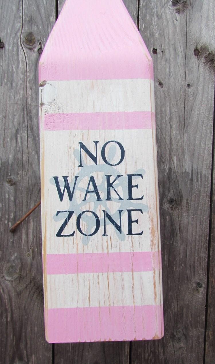 no wake zone buoy  no wake zone sign  handmade by lakeshorehome