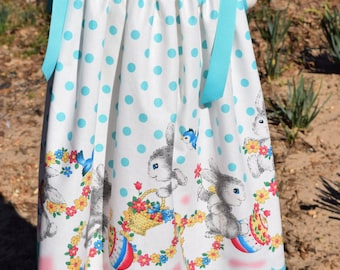 Girls Easter Pillowcase Dress in size 3T.  Ready to Ship