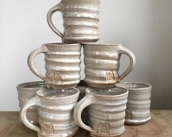 Stoneware coffee cups