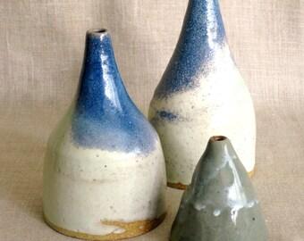 Ceramic Vase, Studio Ceramics, Pottery, Handmade, Studio Pottery, Ceramics, Collection, Group of 3, Vessel, Ceramic Vase, Ceramic Vessel,Art