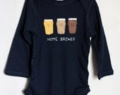 """Baby onesie """"Home Brewed!"""" Draft Beer bodysuit for baby, unique baby onesie, baby shower gift, New Dad, Father's Day"""