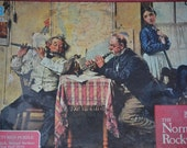 Jigsaw Puzzle--Vintage The Norman Rockwell Series The Love Song Jigsaw Puzzle by Milton Bradley--Textured Puzzle--early 90's