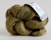 Linea Fingering - STAINED BRASS - hand dyed Alpaca/Linen/Silk yarn