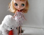 PAJAMAS Pillow Headbands Shorty PJ's  4 pc pink Blythe size dolls Play Suit
