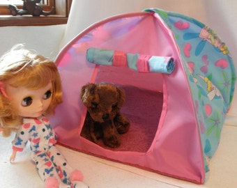 TENT Pop Up Blythe Barbie doll fairies or stuffed animals up to 14 inch