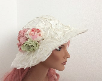 Bridal hat Wedding fascinator Woman hat lace Wedding Accessoires