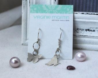 Butterfly - Sterling silver Earrings 925 women - READY TO SHIP