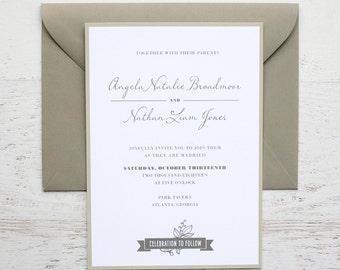 Angela Custom Wedding Invitation