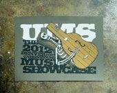 2012 Underground Music Showcase: Skeleton - hand pulled screenprint gig poster