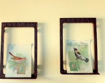 Antique Cast Iron Frames, Set of Two, Wall Decor, Vintage Design, Farm House Design