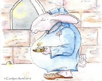 Bedtime for Bunny Open Edition Giclee Print