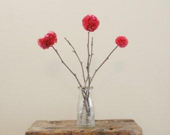 Pom Pom Flowers - Coral - Mother's Day - Spring - Rustic Country Weddings - Shower Centerpiece - Baby Nursery/Kids' Room - Minimalist Decor