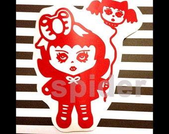 Baby Fang Vinyl Decal Sticker Stickers Spooky Cutie Vampire Bat Balloon Vampires Dracula Car Decal