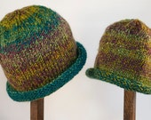 Child Adult Hat Rolled Brim Beanie Size SMALL 1 to 6 months Color No. 28 Rainforest