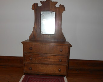 Salesman Sample Dresser Mirror Salesman Sampler Furniture  Doll Miniature Furniture Dresser Mirror Antique SALE