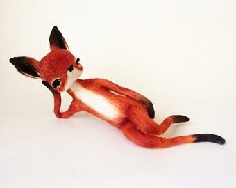 Ooak Spun Cotton Woodland Red Fox