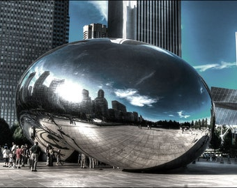 The Bean, Chicago photo, Cloud gate statue in Chicago, Architecture photo