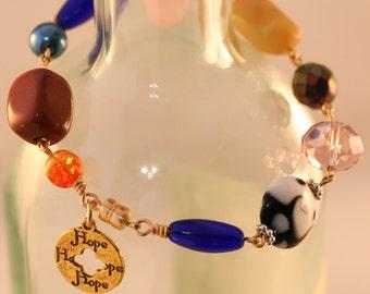 Charity Bracelet. Beaded Bracelet. Link Bracelet. Charm Bracelet. Bracelet for Charity. Beaded Jewelry. Homeless Blessing Bracelet #5