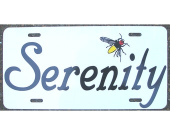Serenity Firefly Shiny License Plate Car Tag