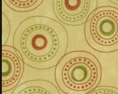 Adoring fabric - Moda - circles on cream - Christmas fabric - OOP/HTF
